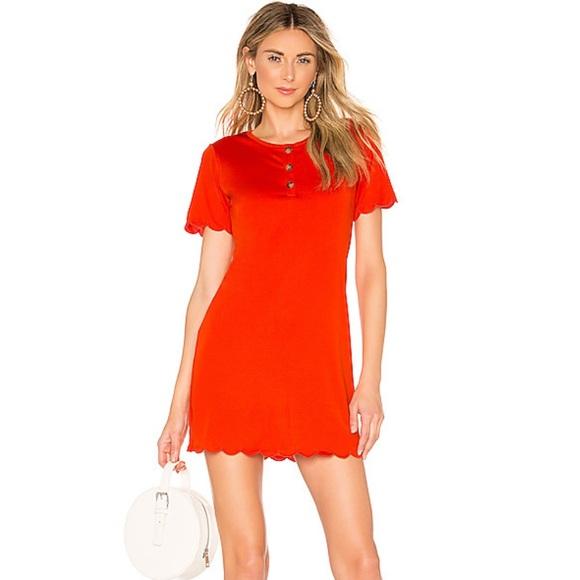 x REVOLVE Delphine Henley Dress in Red